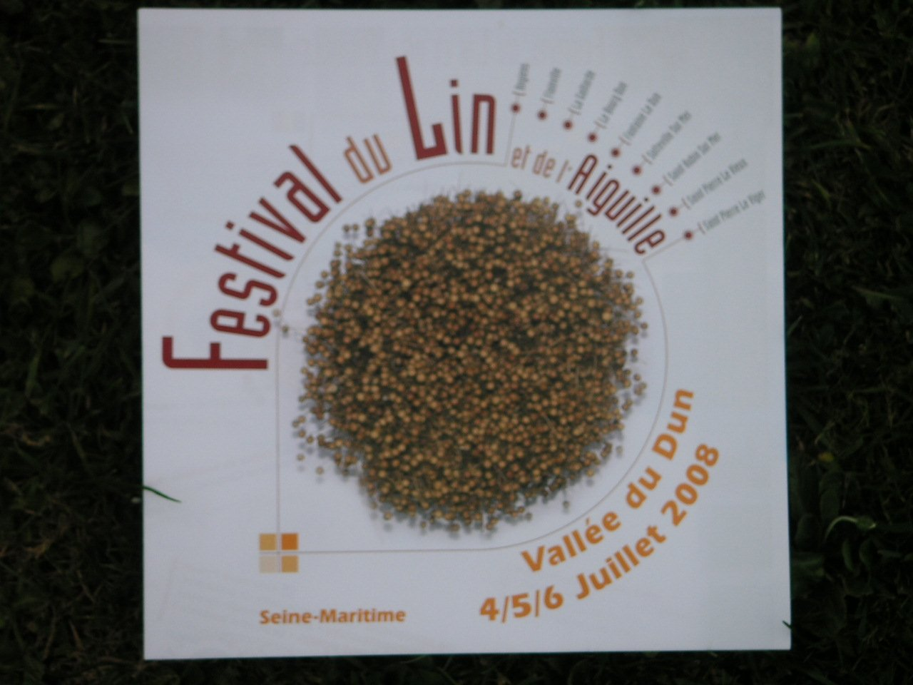 programme du Festival du Lin